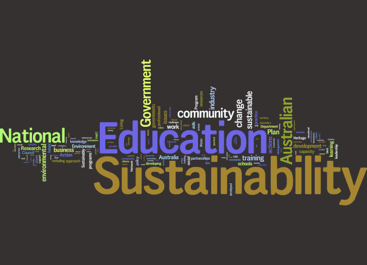 Wordle of National Action Plan for Education for Sustainability